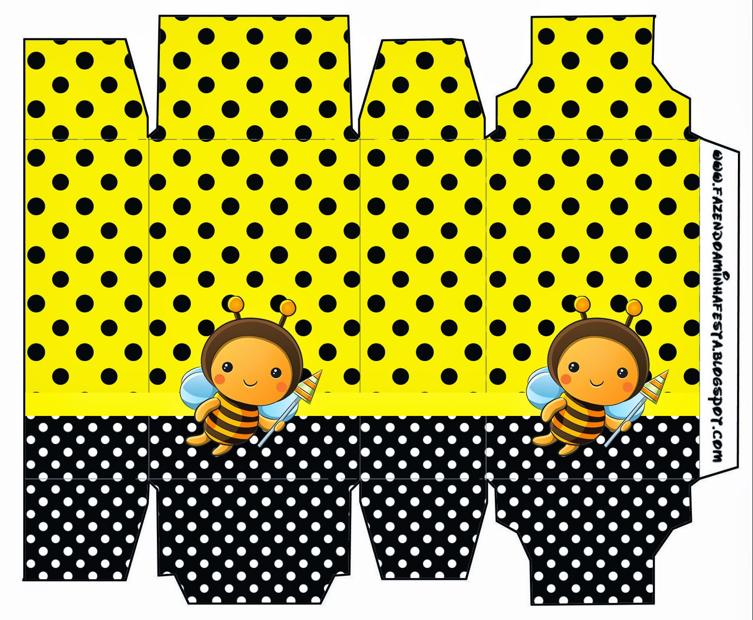 Baby Bees, Free Printable Box.