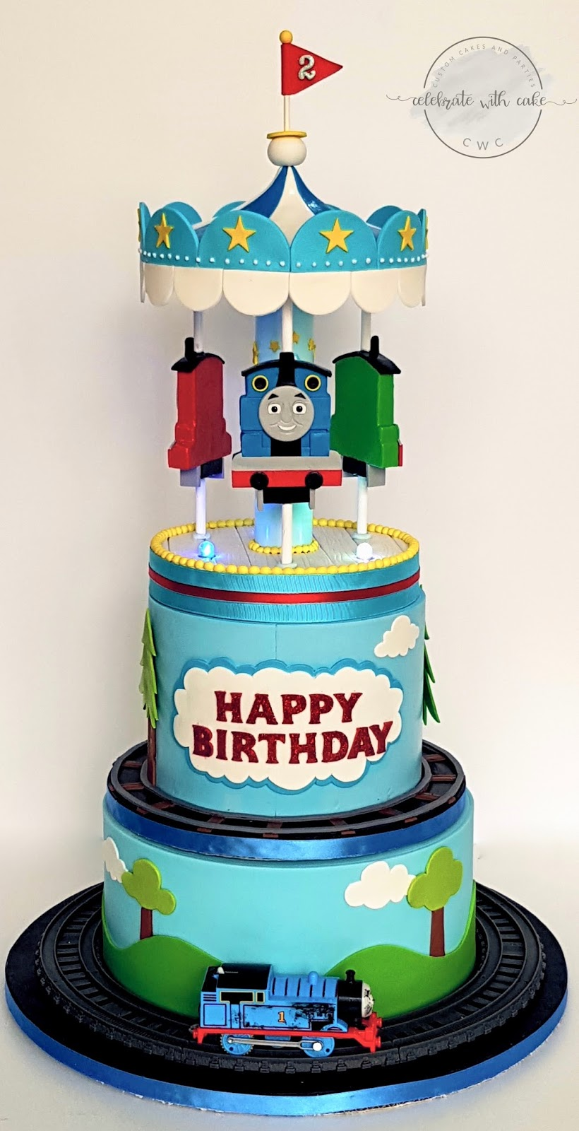 Celebrate With Cake Thomas The Tank Themed Rotating Carousel With