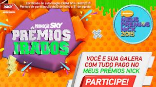 Promoção Sky Prêmios Nick