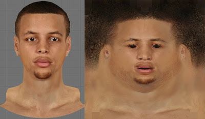 NBA 2K13 Stephen Curry Face Mod Texture