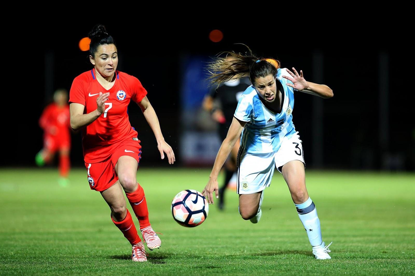 Chile y Argentina en partido amistoso femenino, 24 de octubre de 2017