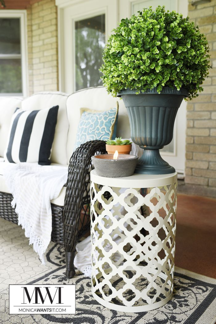 Elegant This post features patio decor ideas that are affordable beautiful and perfect for spring and