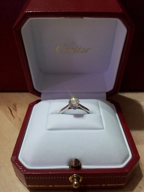 Cartier Engagement Ring Box