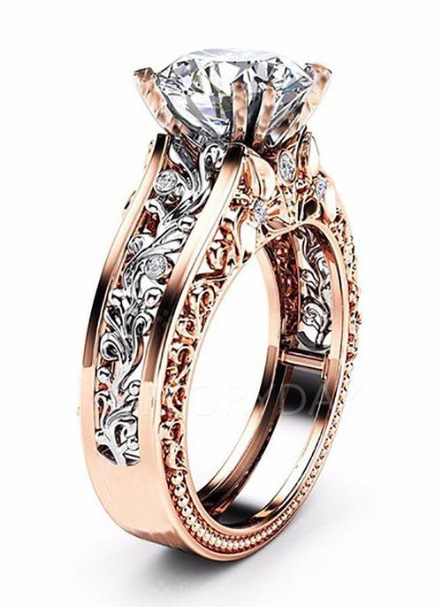 Floral Gemstone Rings Single