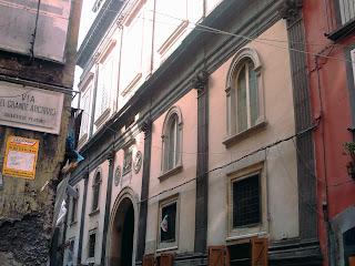 The facade of the Palazzo Marigliano