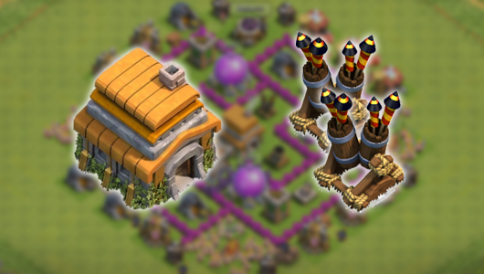 Update! Formasi Base Town Hall 6 dengan 2 Air Defense