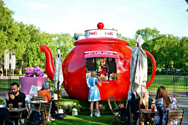 Mad Hatters Tea Party Pimms Teapot Chelsea in Bloom 2015