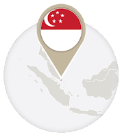 Singaporean flag and map