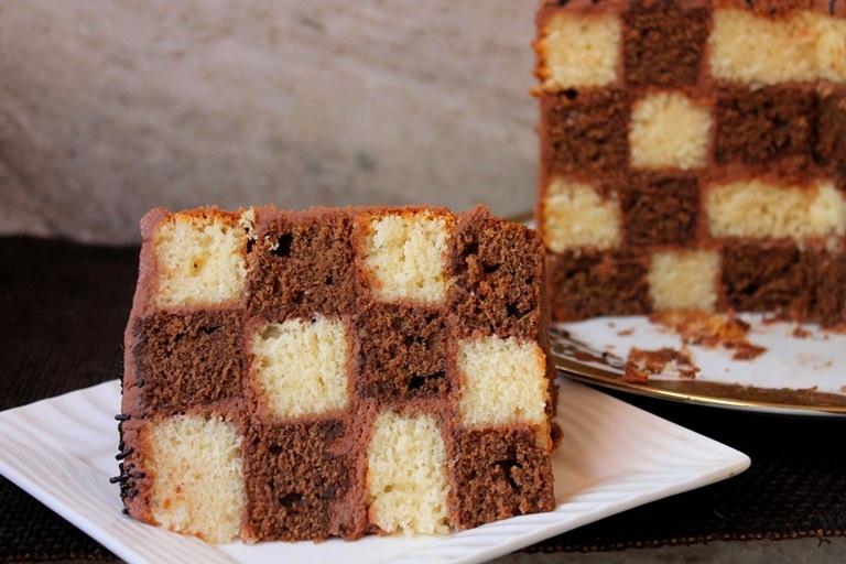 Checkerboard Cake Recipe Vanilla Amp Chocolate