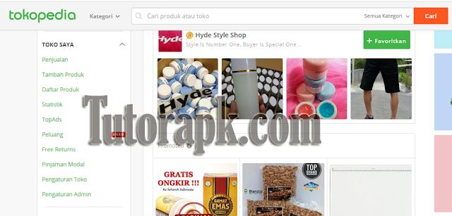 Cara menambahkan produk di tokopedia
