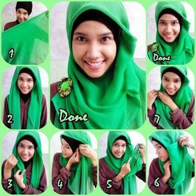 Tutorial Hijab Kerudung Segitiga Simpel by Zoya