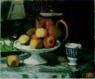 P4 Still Life with a Bowl of Apples by Roderic O'Conor
