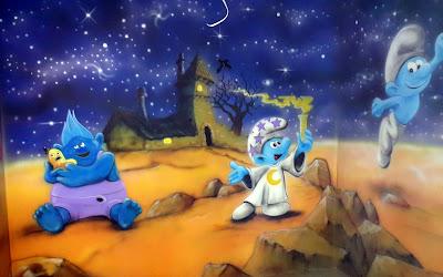 Malowanie obrazów w ultrafiolecie, mural UV, sala zabaw