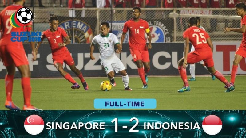Indonesia mengalahkan Singapura 2-1 di AFF Cup 2016