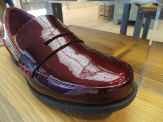 Burgundy patent shoe