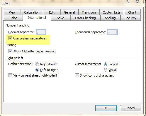 Cách thay đổi dấu phẩy thành dấu chấm trong Windows