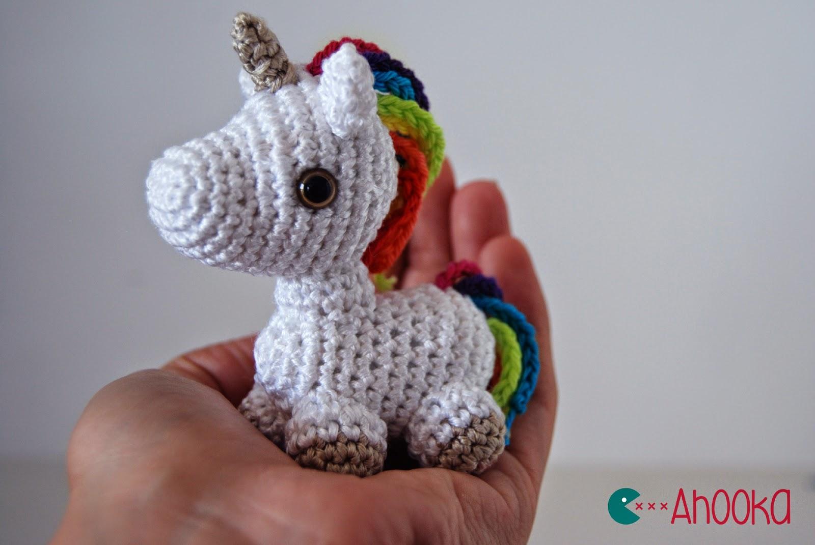 dada neon crochet tiny rainbow unicorn amigurumi by ahooka as a giant. Black Bedroom Furniture Sets. Home Design Ideas