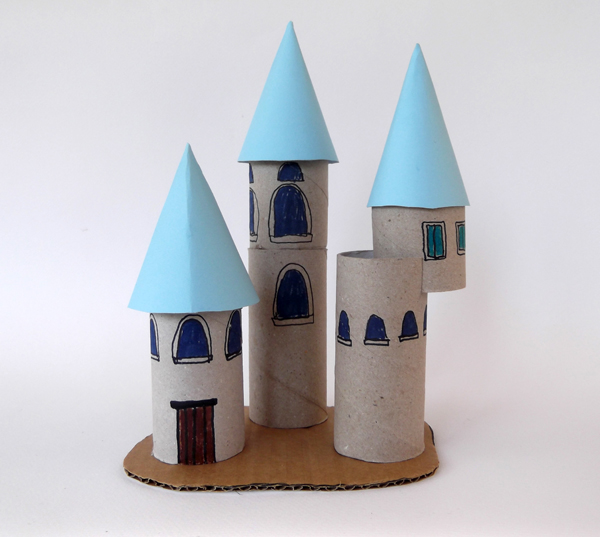 palace, castle, crafts, toilet paper rolls, kids crafts, architecture for kids, architecture crafts, paper roll crafts