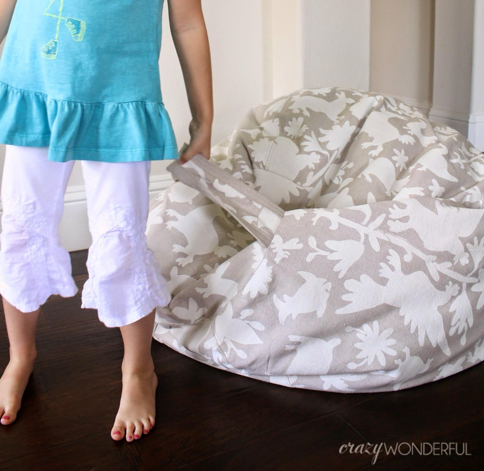 no sew bean bag chair 16 round cushions crazy wonderful otomi print diy