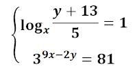 sistemas de ecuaciones  exponenciales logaritmico