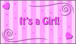 baby shower clip art for girls