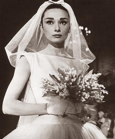 """Audrey vestida de novia en la película """"Funny Face"""""""
