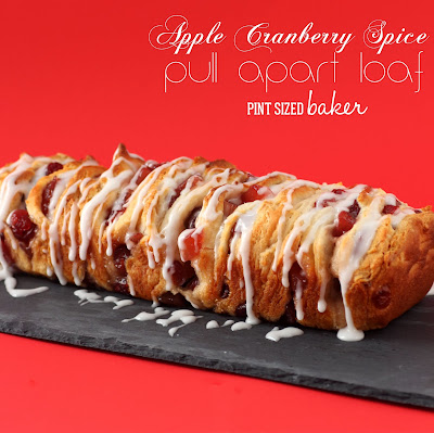 Apple cranberry spice pull apart bread