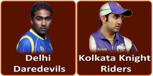 दिल्ली डेअरडेविल्स बनाम कोलकाता नाईट राईडर्स 1 मई 2013 को है।