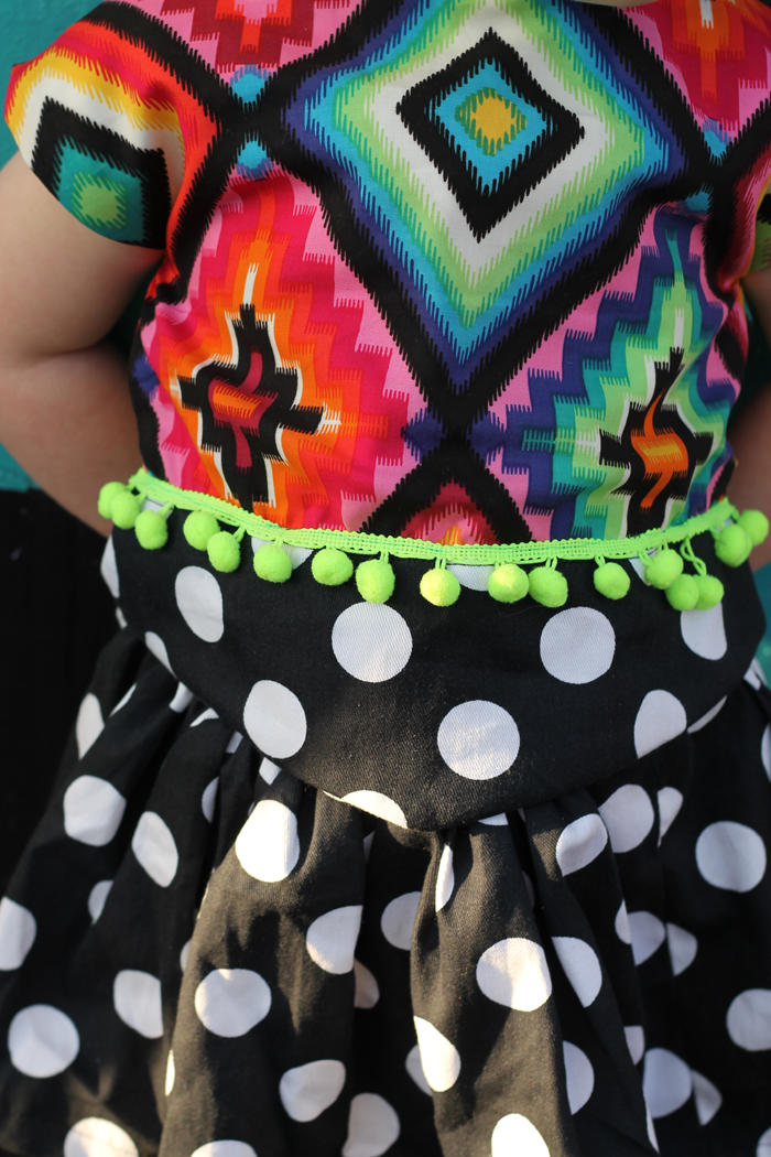 reversible rainbow crop top & dot skirt • www.max-california.com