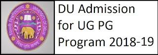 DU Admission 2018 UG PG Online Form