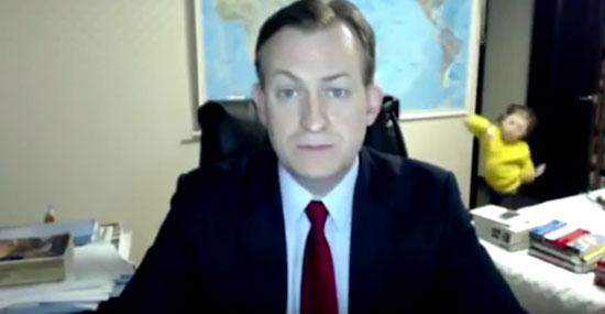 Entrevista interrompida com invasão de filhos viralizou na internet - Img 1
