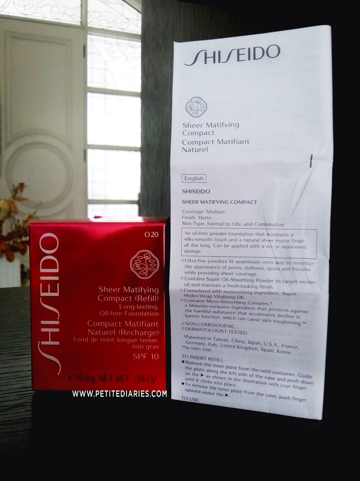 shiseido powder matifying compact review