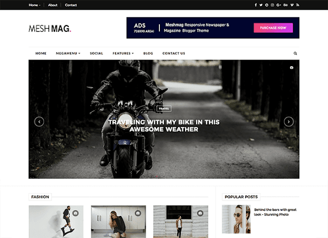 download template blogger meshmag premium gratis