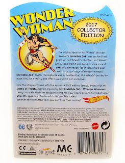 Hot Wheels Walmart Mail-In Wonder Woman Invisible Jet