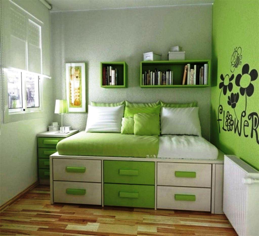 Foto Wallpaper Dinding Kamar Tidur Minimalis Warna Hijau