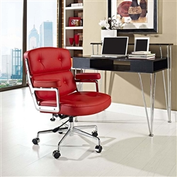 Cool Red Leather Office Chair