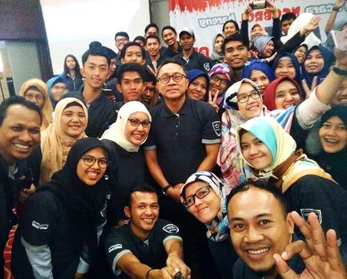 Zulkifli Hasan dan Blogger Bandung