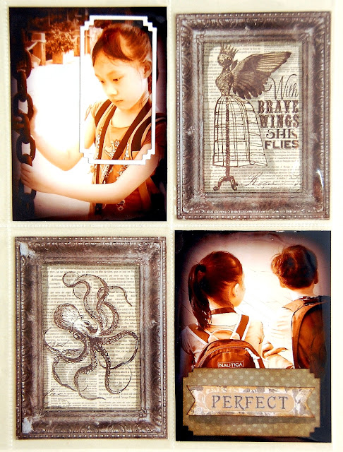 True Beauty Misc me Pages by Irene Tan using BoBunny Penny Emporium collection