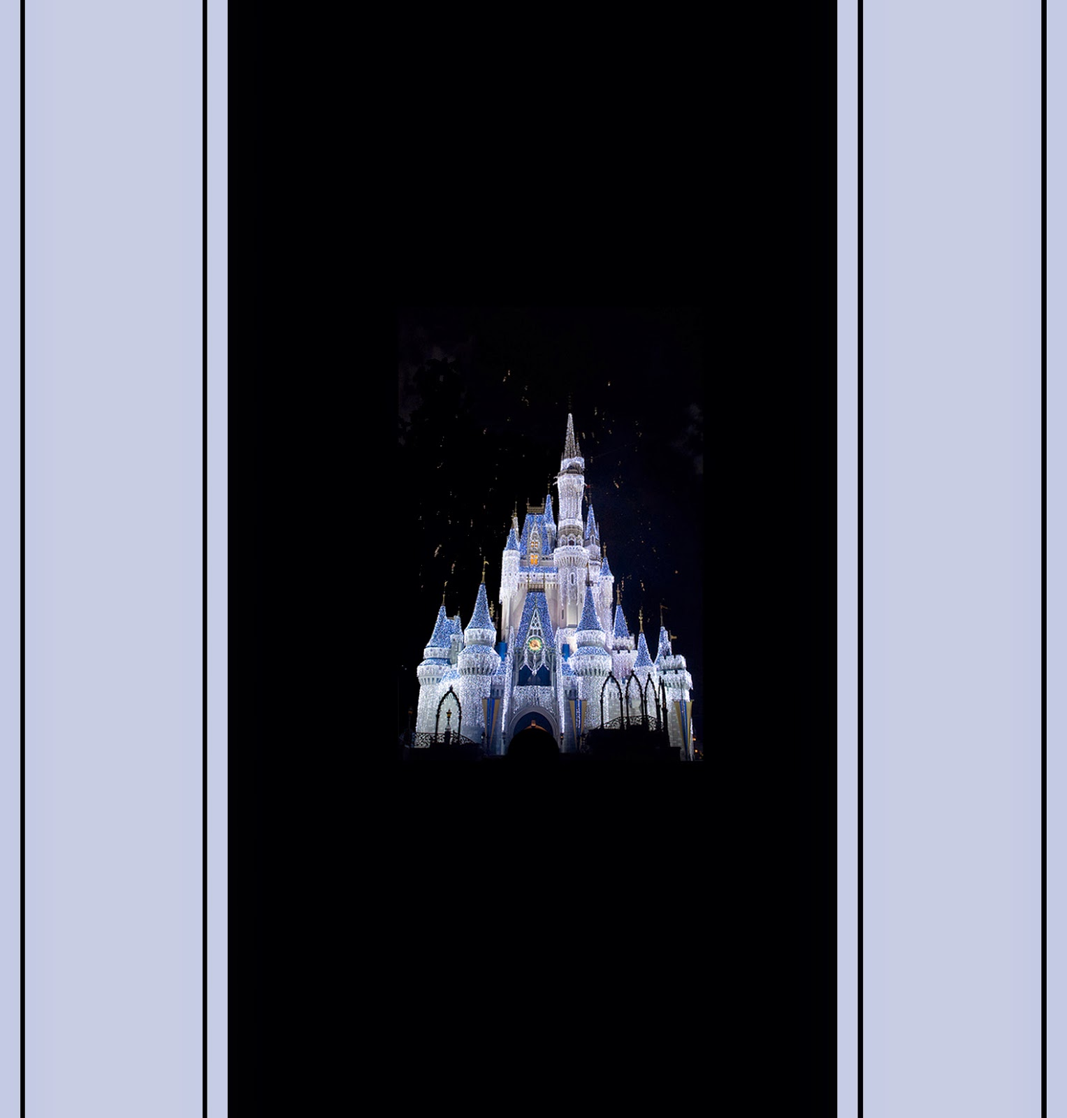 Disney Castle Free Printable Chocolate Wrapper.