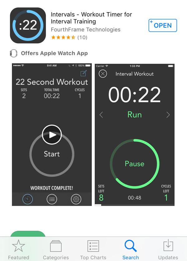 Intervals app, iPhone workout app, Android workout app, Intervals Training App, Workout app, gym app, HIIT app
