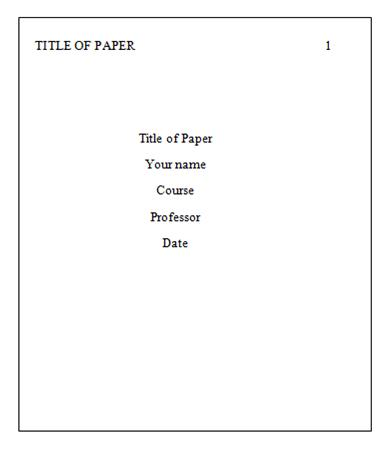 How to write a title page in turabian format paper