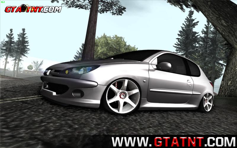 GTA SA - Peugeot 206 Fixa | GTA TNT | Mods Para GTA