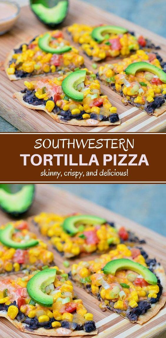 Skinny Southwestern Pizza
