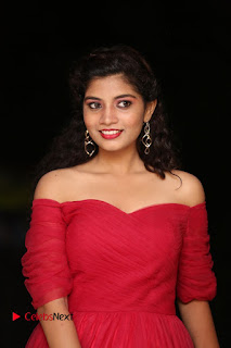 Actress Bindu Pictures in Red Dress at Attarillu Movie Press Meet 0004.JPG