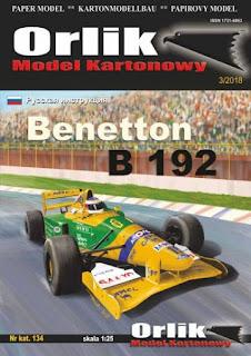 Benetton B192 - Michael Schumacher & Martin Brundle - Belgian GP 1992 (ORLIK)