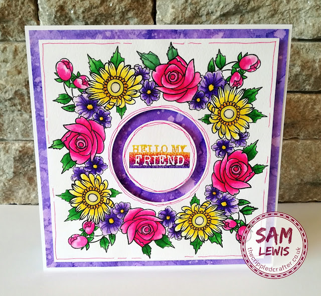 Using Masking Fluid to overlap stamps... by Sam Lewis AKA The Crippled Crafter