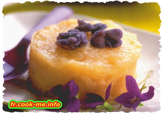 Gâteau de riz à la violette