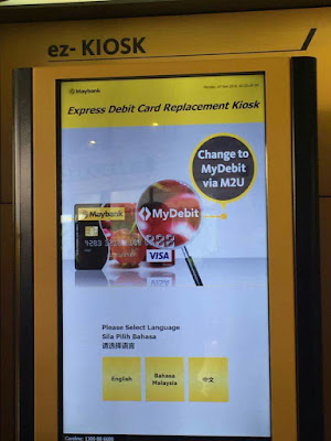 Image result for maybank debit card replacement kiosk