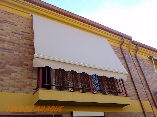 Empresa Toldos en Madrid toldos instaladores Araque Instalación de un toldo portada motorizado en Valdemoro - Madrid. Trabajos realizados
