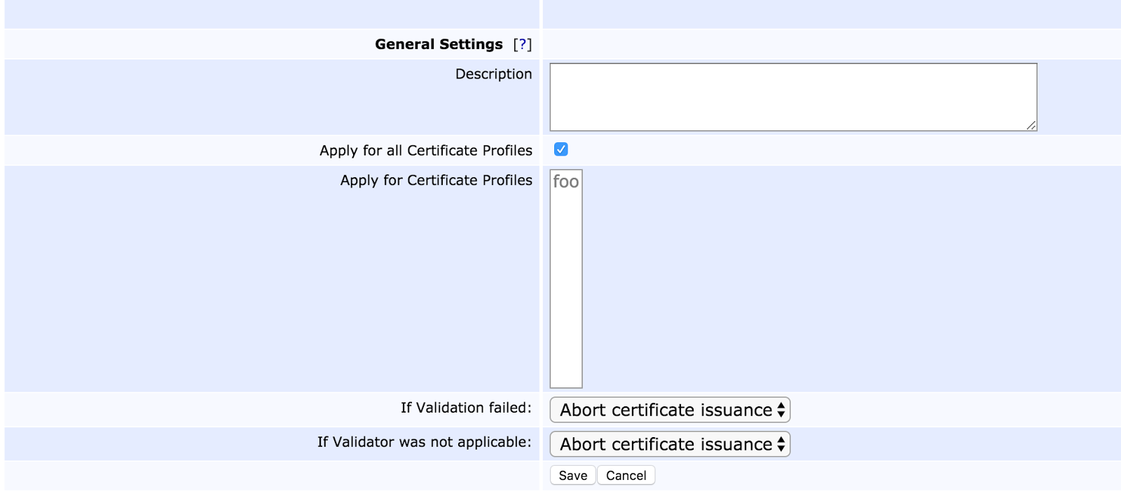 Ejbca open source enterprise pki 2017 this allows for setting a description restricting application of the validator to certain certificate profiles and to define behavior in cases where the 1betcityfo Choice Image